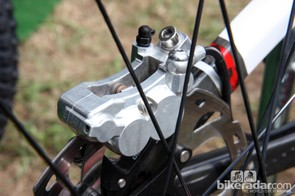 Shimano sticks with two-piece construction for the new Saint caliper body.