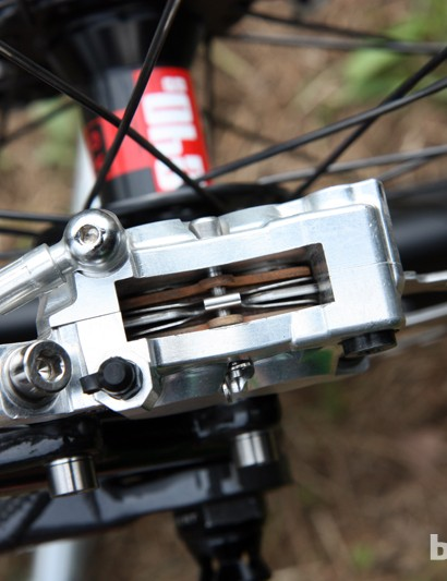 The more open back of Shimano's next-generation Saint brake calipers should help keep the pads cooler than the current version
