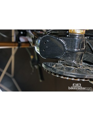 The bottom bracket shell on the new Scott Gambler is welded as two separate halves