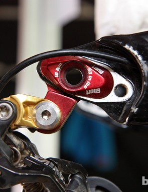 Chain stay length is adjustable on the new Scott Gambler between two settings