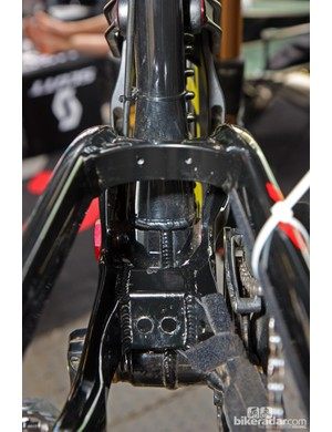 There's a lot of welding on Scott's new Gambler frame