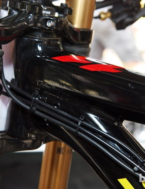 The new Scott Gambler also features integrated fork stops, which are omitted here