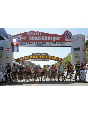 The 2011 USA Pro Cycling Challenge final stage start in Golden, CO