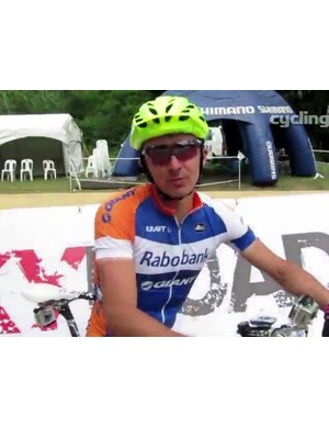 Adam Craig (Rabobank-Giant) gets ready to do a lap of the cross country course
