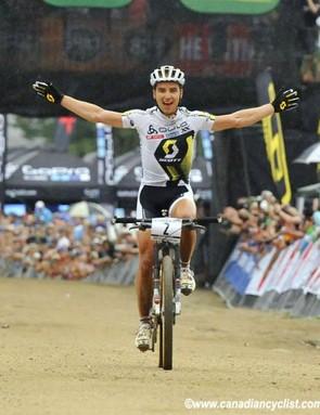 Nino Schurter (Scott - Swisspower MTB Racing Team) wins the opening World Cup in Pietermaritzburg