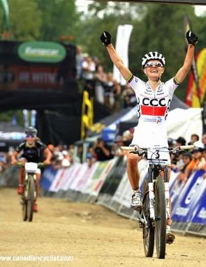 Maja Wloszczowska (CCC Polkowice) wins the opening World Cup in Pietermaritzburg, South Africa