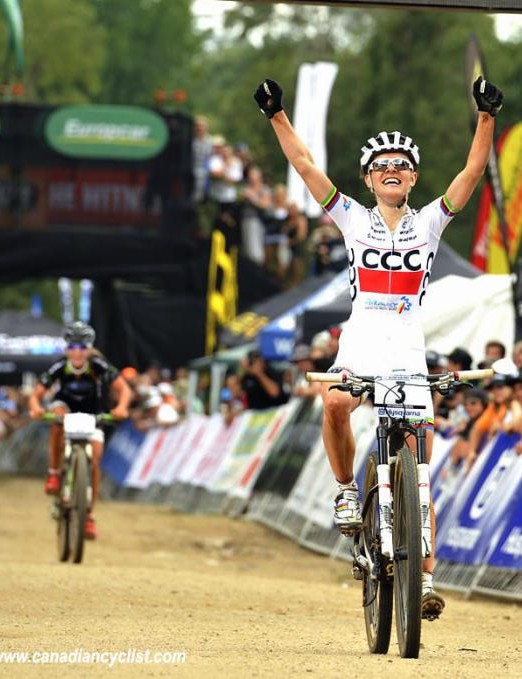 Maja Wloszczowska (CCC Polkowice) wins the opening World Cup in Pietermaritzburg, South Africa
