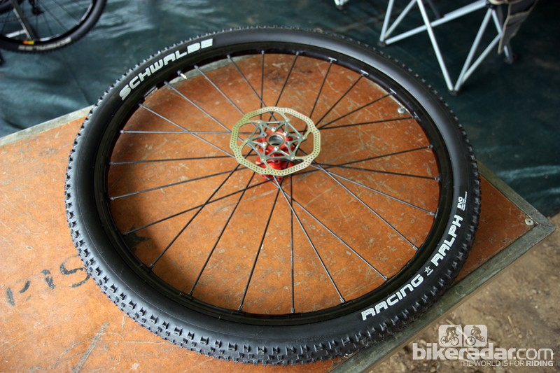 Spotted in the Cannondale Factory Racing pit area were Mavic's upcoming Crossmax SLR 29er wheels.