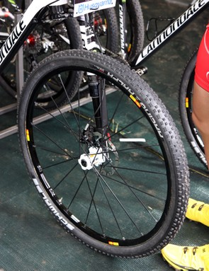 Cannondale Factory Team racers were on a mix of new Mavic C29ssmax SLR 29