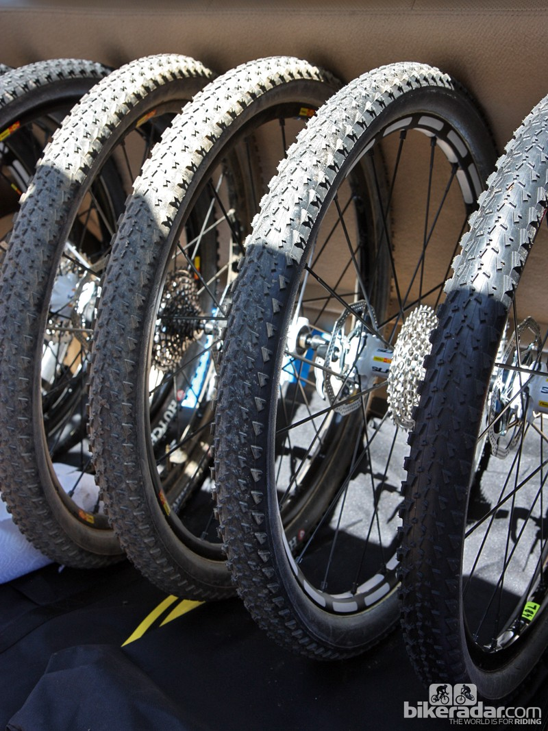 "We also spotted this fleet of tubular Mavic 26"" cross country wheels in the pit area at Pietermaritzburg."