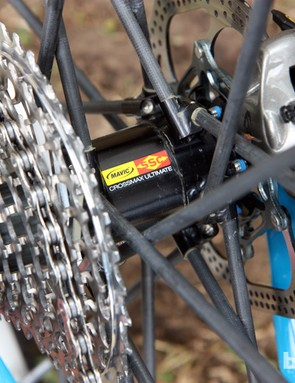 Mavic's Crossmax Ultimate wheels have been making guest appearances from time to time since at least 2009 so despite the labeling, we're still holding our breath on whether they'll actually make it to production.