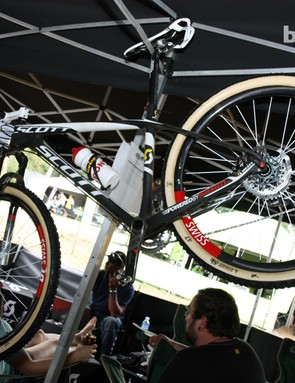 Scott-Swisspower conducted a rigorous test session back in December on all three common wheel size formats, concluding that 650b offered the perfect in-between performance envelope for this year's Olympic course.