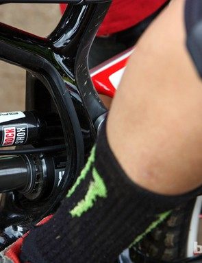 Troy Brosnan (Monster Energy-Specialized) used a new RockShox Vivid Air during his run in Pietermaritzburg