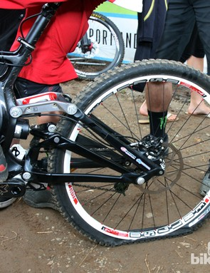 Troy Brosnan (Monster Energy-Specialized) didn't have the best race run. Perhaps this was why