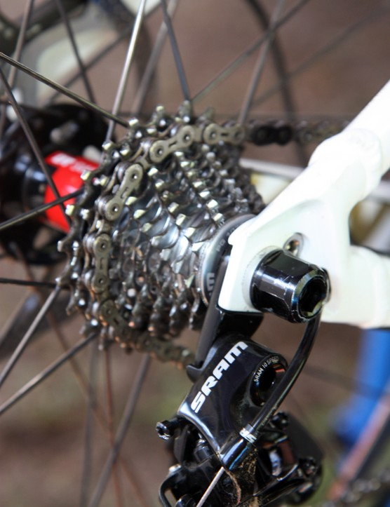 Andrew Neethling (Giant Factory Team) uses a SRAM PG-1070 road cassette on his Giant Glory