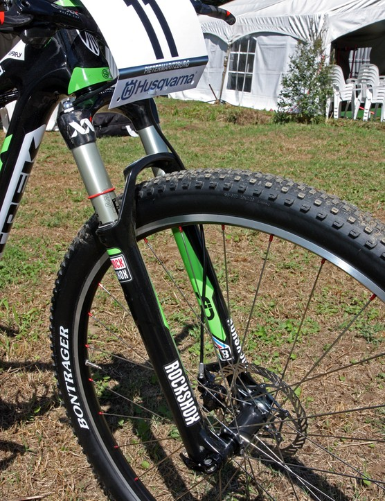 Emily Batty's (Subaru-Trek) BlackBox-edition RockShox SID XX World Cup fork doesn't look all that special from the outside aside from the new MY2013 logo…