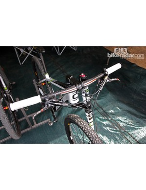 Cannondale Factory Racing team bikes were fitted with new Lefty forks in Pietermaritzburg