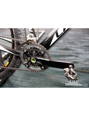 As usual, Cannondale's own Hollowgram SL cranks are installed on team bikes, complete with SRAM XX 36/29-tooth chainrings
