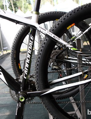Cannondale say the flattened rear stays on the Flash Carbon 29er help soften the ride