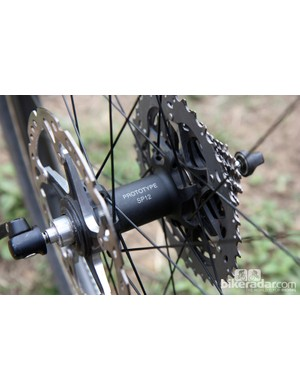 The new rear hub features straight-pull spokes that are stacked on top of each other to maximize the bracing angle