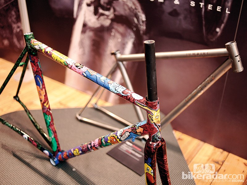 Quirky frame finishes upped the entertainment factor at the first Bespoked Bristol handmade bike show