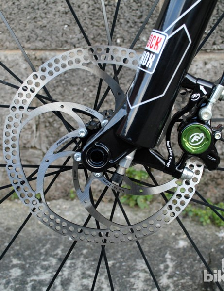 The fork uses RockShox's Dual Air system