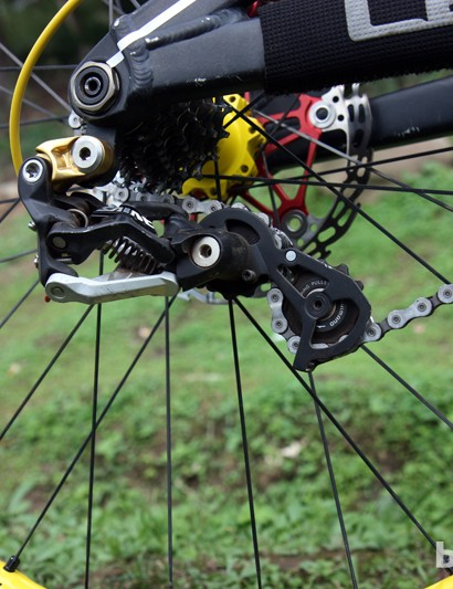 Shimano are soon to update their long-running Saint group, but unlike reigning World Cup champion Aaron Gwin (Trek World Racing), Gracia was running the current version at Pietermaritzburg