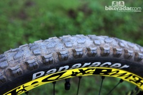 The clipped rear tire yields greater rolling speed without overly sacrificing cornering traction