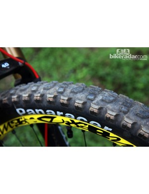 The front tire is left unclipped, though, so as retain braking performance