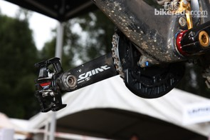 170mm-long cranks and a 38-tooth chainring for Cedric Gracia (CG Racing Brigade)