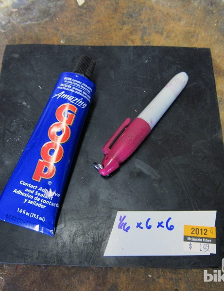This is all you'll need for the project, plus a pair of sharp scissors and an X-Acto knife or scalpel