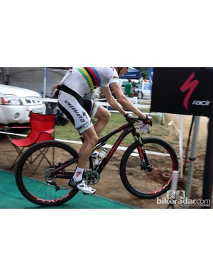 Current UCI world champion Jaroslav Kulhavy (Specialized) tackled the challenging Pietermaritzburg course on a full-suspension Specialized S-Works Epic 29er