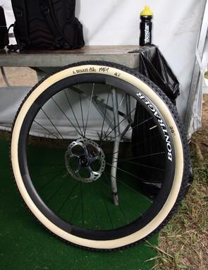 Trek World Racing were yet another team in Pietermaritzburg using ultralight carbon fiber tubular wheels and tires made by Dugast