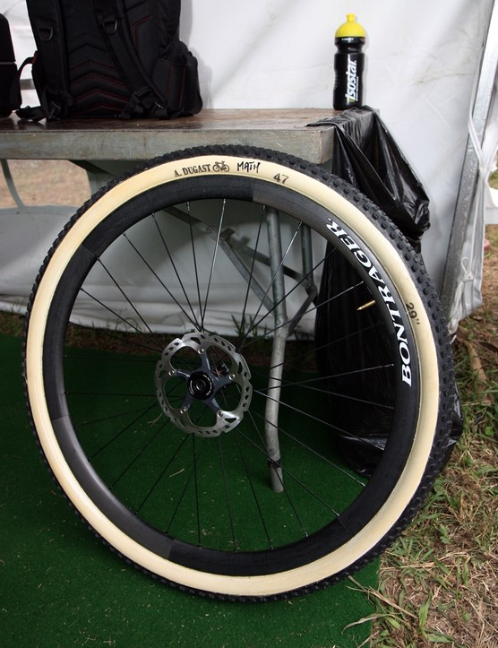 Trek World Racing were yet another team in Pietermaritzburg using ultralight carbon fiber tubular wheels and tires made by Dugast
