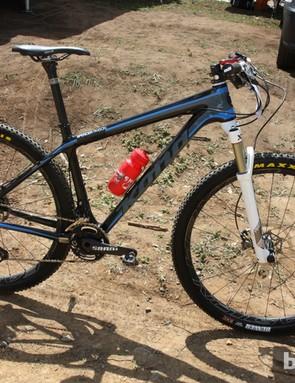 Spencer Paxson's (Kona) new Kona King Kahuna carbon 29er hardtail weighed 10.18kg (22.44lb) in Pietermaritzburg