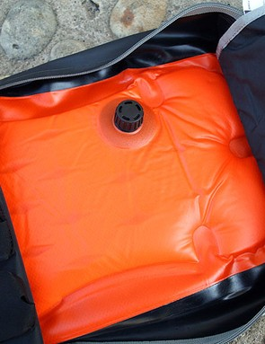 The inflatable valve on the O-range Jet Backpack