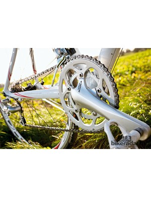 The Ribble Sportive has full Shimano Sora, including the chainset