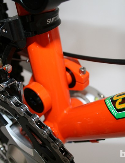 Reynolds 853 chromoly provides a strong 'backbone' for the Rocket
