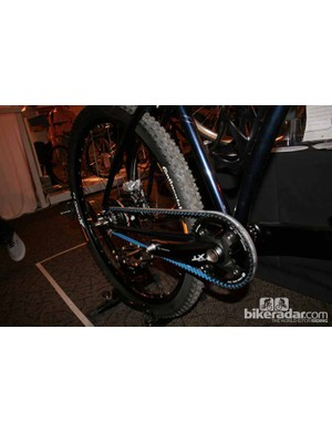 The belt drive on Paulus Quiros's 29er. With a Shimano Deore XT groupset, the bike is no snip at £4,181.82