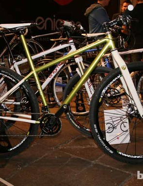 The vast majority of their bikes are road bikes, but they're also offering mountain bikes in the form of steel 29ers