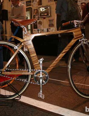 Yes, it's a wooden frame, which, says Flat Frame Systems designer Mike Cubbage, is