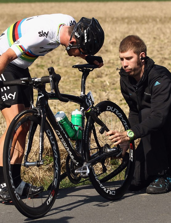 Mark Cavendish didn't have a good day in Gent-Wevelgem