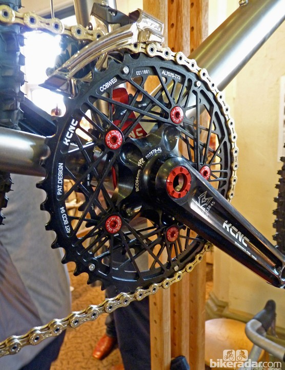 KCNC Cobweb chainrings on the Burls mountain bike
