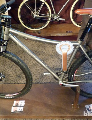 Crisp Titanium's Il Capo mountain bike won the 'best off road' prize at Bespoked Bristol