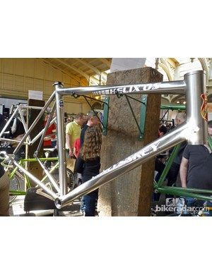 Lynskey's spiral tubing sets them apart from the crowd. This is the Helix OS road frame