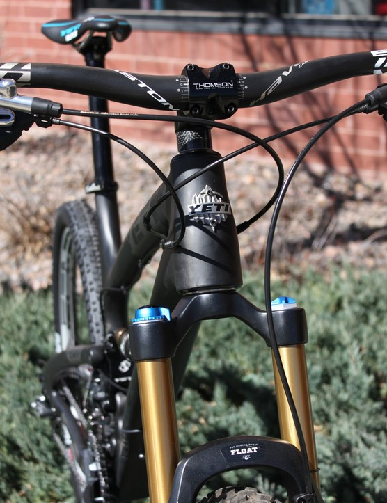 Yeti use a tapered head tube, which measures 67° with a 150mm-travel Fox fork or 66.5° with a 160mm fork