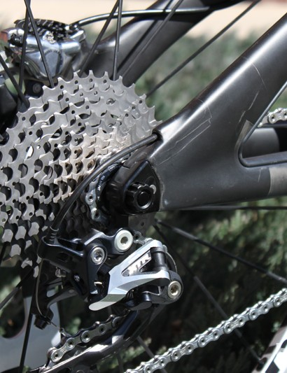 The bike uses a 12x142mm rear axle