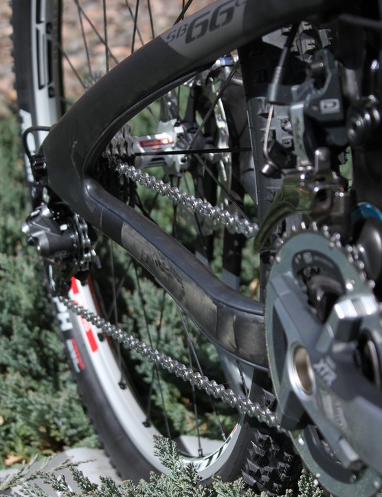 Yeti integrate rubber chain-slap bumpers into the rear triangle