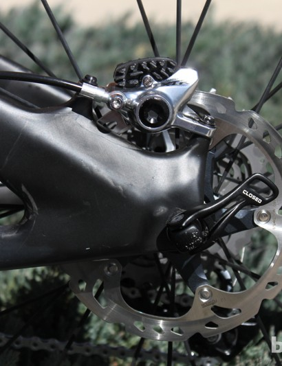 Yeti offer post mount brake mounts sized for a 160mm rotor on the SB-66 C
