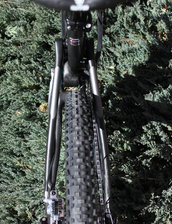Plenty of clearance for Schwalbe's 2.25in Racing Ralph tire
